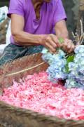 Skilled Hands - Pasar Ubud Flowers - Bali Street Photographer