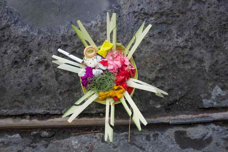 Canang with cigarette - Bali Street Photographer Ubud Bali