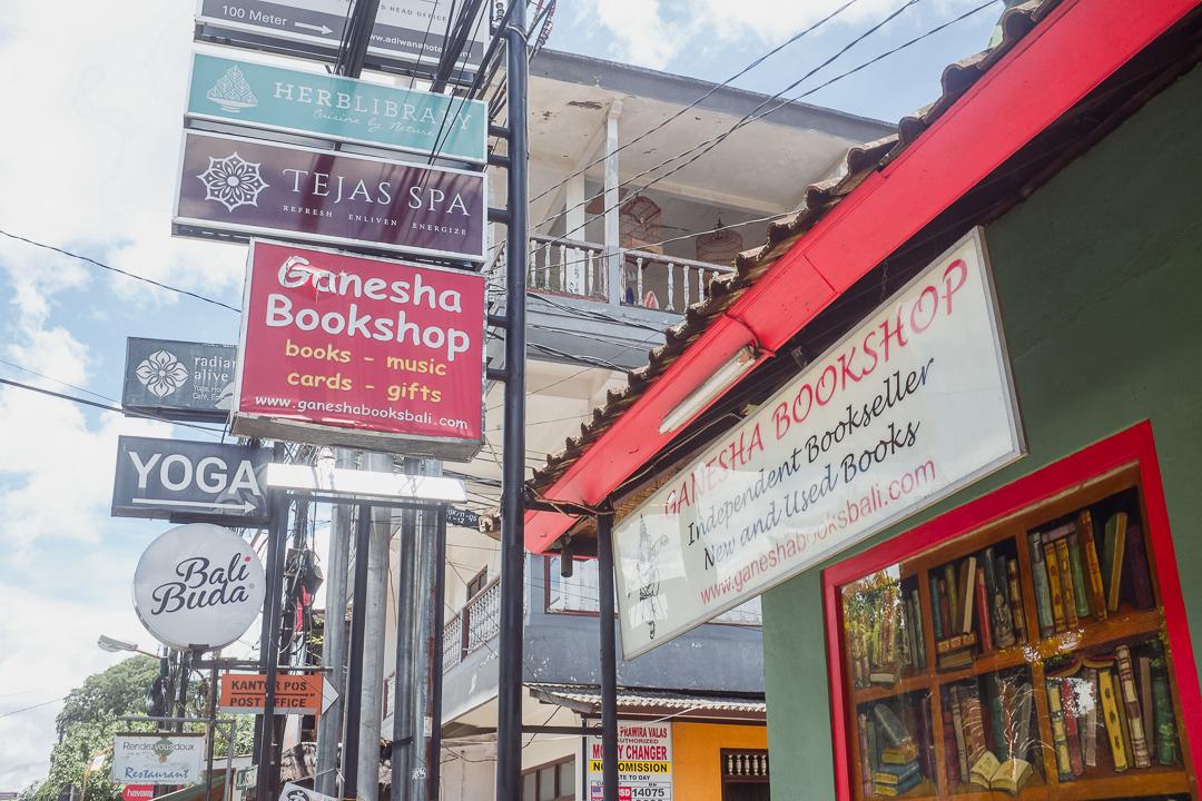 Ganesha Bookshop Ubud Bali - Bali Street Photographer