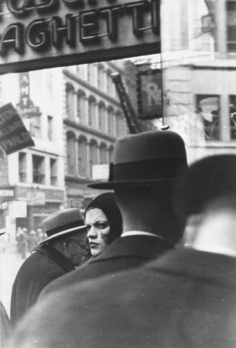 Woman in Cloche Hat and Pedestrians by Walker Evans