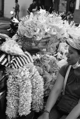 Pre fab banten for offerings on the streets of Ubud - Bali Street Photographer