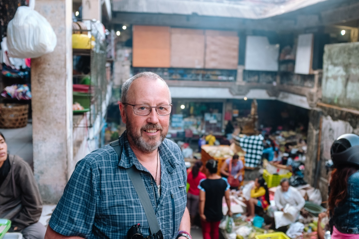 Les Telford photographer from the UK - Testimonial for Bali Street Photographer Pasar Ubud Tour