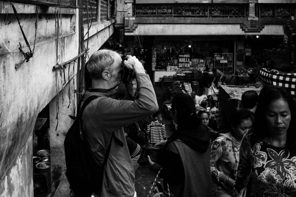 Adrian of Artisanal Photo at Pasar Ubud Street Photography Tour