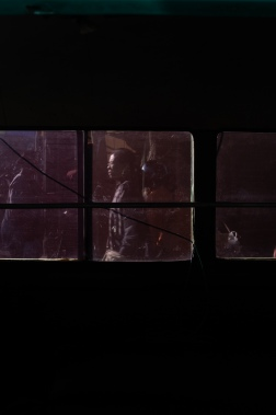 Woman through a bemo window - Pasar Ubud Bali Street Photography Tours