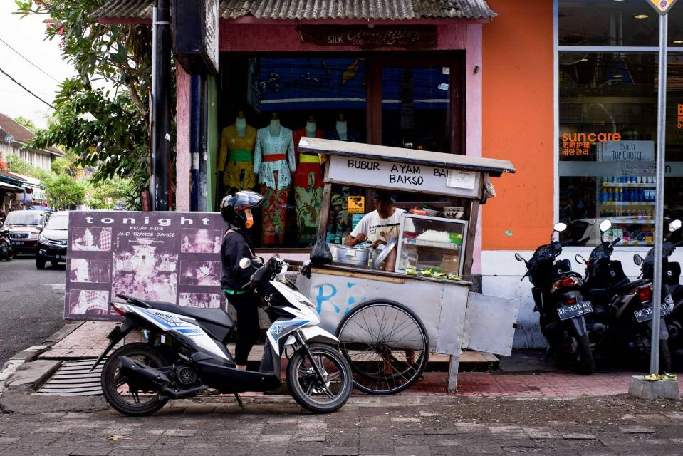 Kaki Lima or Five Legs street food vendor - Bali Street Photographer