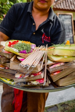 Daily Offerings in Ubud - Bali Street Photographer