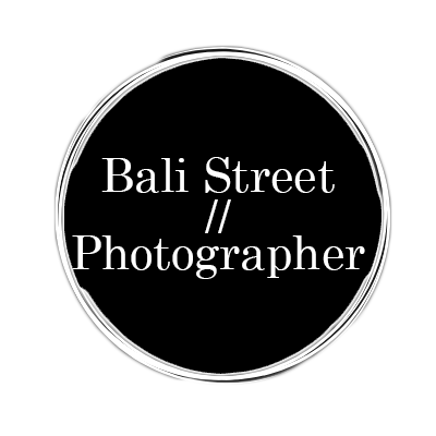 Bali Street Photographer Logo Black Circle Clear Square