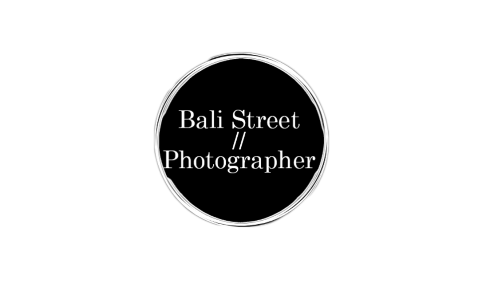 Bali Street Photographer Main Logo in Hero Image format