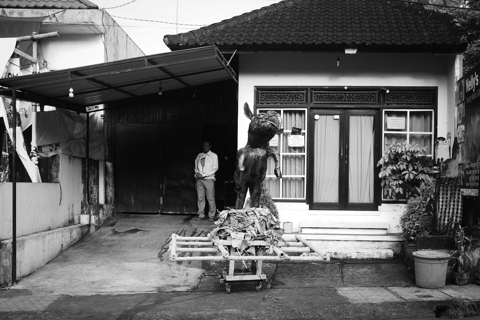 Baby Ogoh-ogoh in the Making - Bali Street Photographer