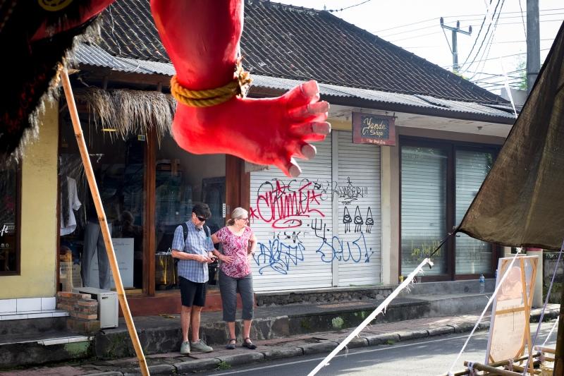 Ogoh-ogoh in the making Ubud Bali - Bali Street Photographer