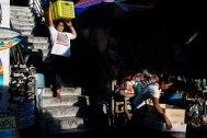 Transition time at the pasar. Bali Street Photographer tour.