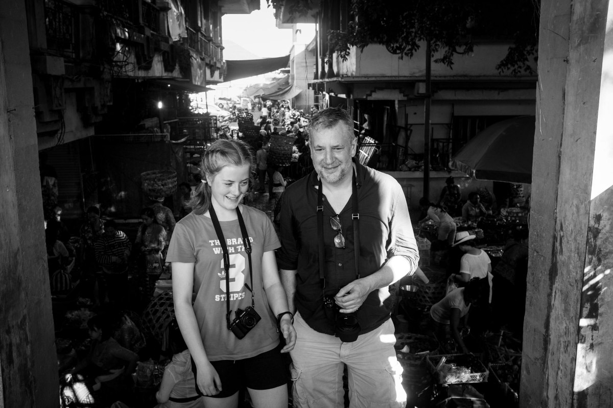 Mia and Nick on the Pasar Ubud Bali Street Photographer Tour