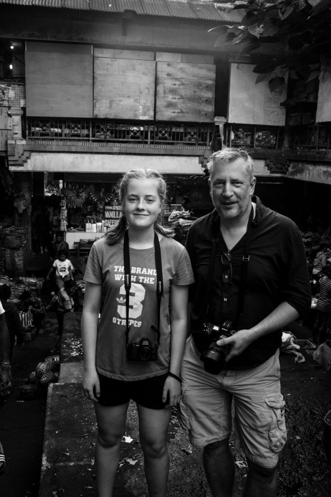 Mia and Nick on the Pasar Ubud Bali Street Photographer Tour