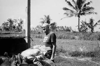 Portrait of Rodney founder of Seniman Coffee on 35mm film - Bali Street Photographer Ubud Bali