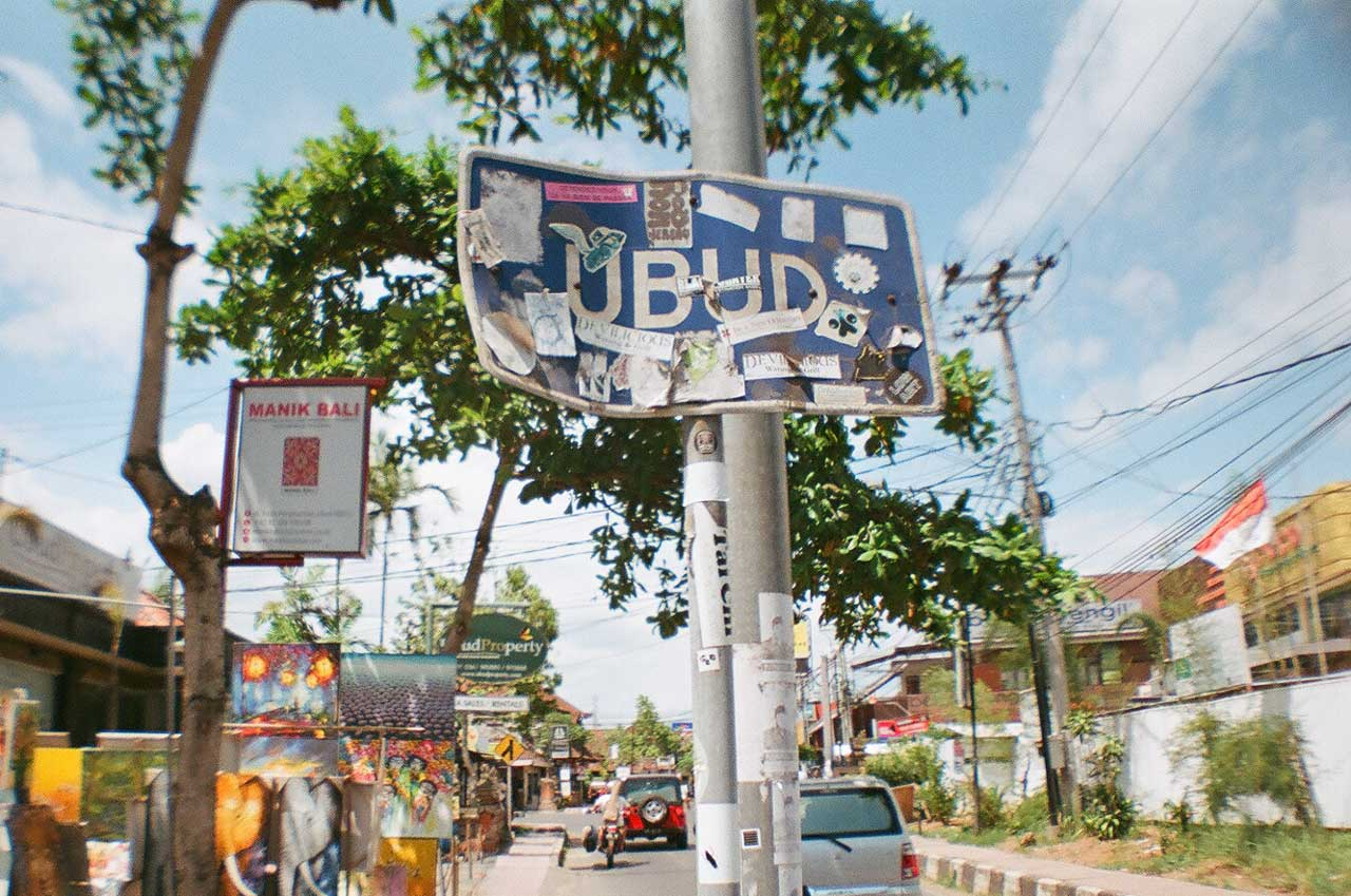 All Signs Point to Ubud - 35mm film - Bali Street Photographer - What to do in Ubud