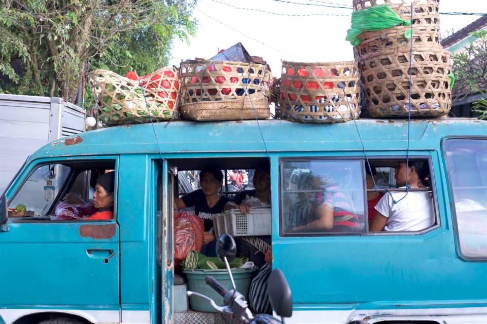 Full Bemo Ride at Pasar Ubud - Bali Street Photography Tours