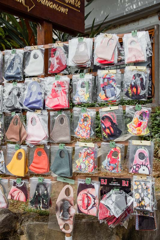 Face masks for sale at Pasar Ubud July 2020